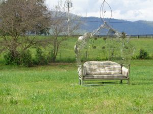 """The Bench"", 2016 – Sculpture Garden  – Artist Chris Odell-Ferguson –  Price – $500"